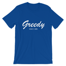Greedy Unisex T-Shirt, Collection Nicknames-True Royal-S-Tamed Winds-tshirt-shop-and-sailing-blog-www-tamedwinds-com