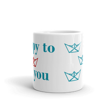 Happy To Sea You Mug 325 ml, Collection Origami Boat-Tamed Winds-tshirt-shop-and-sailing-blog-www-tamedwinds-com