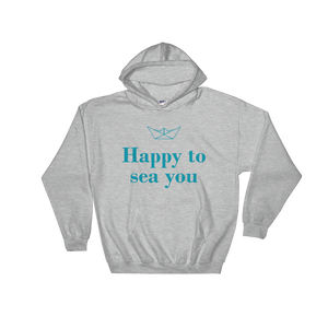 Happy To Sea You Unisex Hooded Sweatshirt, Collection Origami Boat-Sport Grey-S-Tamed Winds-tshirt-shop-and-sailing-blog-www-tamedwinds-com