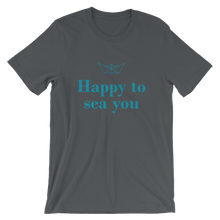 Happy To Sea You Unisex T-Shirt, Collection Origami Boat-Asphalt-S-Tamed Winds-tshirt-shop-and-sailing-blog-www-tamedwinds-com