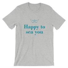 Happy To Sea You Unisex T-Shirt, Collection Origami Boat-Athletic Heather-S-Tamed Winds-tshirt-shop-and-sailing-blog-www-tamedwinds-com
