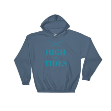 High On Tides Unisex Hooded Sweatshirt, Collection Origami Boat-Indigo Blue-S-Tamed Winds-tshirt-shop-and-sailing-blog-www-tamedwinds-com