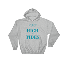 High On Tides Unisex Hooded Sweatshirt, Collection Origami Boat-Sport Grey-S-Tamed Winds-tshirt-shop-and-sailing-blog-www-tamedwinds-com