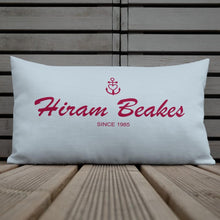 Hiram Beakes Light Grayish Blue Decorative Pillow, Collection Pirate Tales-Tamed Winds-tshirt-shop-and-sailing-blog-www-tamedwinds-com