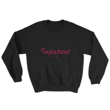 Impatient Unisex Crewneck Sweatshirt, Collection Nicknames-Black-S-Tamed Winds-tshirt-shop-and-sailing-blog-www-tamedwinds-com