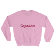 Impatient Unisex Crewneck Sweatshirt, Collection Nicknames-Light Pink-S-Tamed Winds-tshirt-shop-and-sailing-blog-www-tamedwinds-com