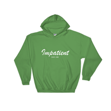 Impatient Unisex Hooded Sweatshirt, Collection Nicknames-Irish Green-S-Tamed Winds-tshirt-shop-and-sailing-blog-www-tamedwinds-com