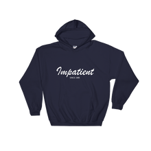 Impatient Unisex Hooded Sweatshirt, Collection Nicknames-Navy-S-Tamed Winds-tshirt-shop-and-sailing-blog-www-tamedwinds-com