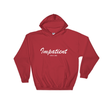 Impatient Unisex Hooded Sweatshirt, Collection Nicknames-Red-S-Tamed Winds-tshirt-shop-and-sailing-blog-www-tamedwinds-com