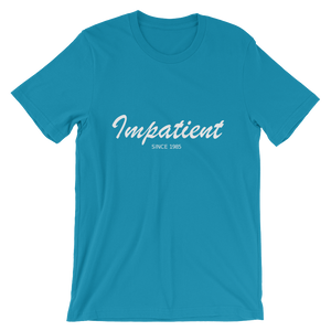 Impatient Unisex T-Shirt, Collection Nicknames-Aqua-S-Tamed Winds-tshirt-shop-and-sailing-blog-www-tamedwinds-com