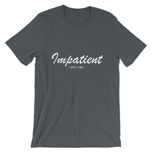 Impatient Unisex T-Shirt, Collection Nicknames-Asphalt-S-Tamed Winds-tshirt-shop-and-sailing-blog-www-tamedwinds-com