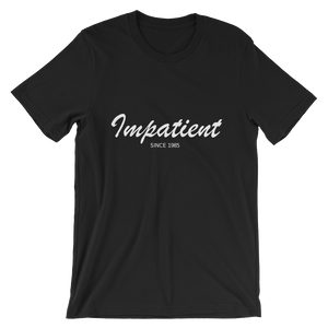 Impatient Unisex T-Shirt, Collection Nicknames-Black-S-Tamed Winds-tshirt-shop-and-sailing-blog-www-tamedwinds-com