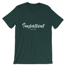 Impatient Unisex T-Shirt, Collection Nicknames-Forest-S-Tamed Winds-tshirt-shop-and-sailing-blog-www-tamedwinds-com