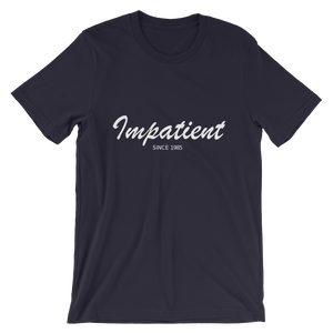 Impatient Unisex T-Shirt, Collection Nicknames-Navy-S-Tamed Winds-tshirt-shop-and-sailing-blog-www-tamedwinds-com