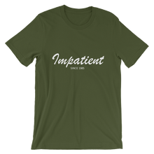 Impatient Unisex T-Shirt, Collection Nicknames-Olive-S-Tamed Winds-tshirt-shop-and-sailing-blog-www-tamedwinds-com