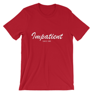 Impatient Unisex T-Shirt, Collection Nicknames-Red-S-Tamed Winds-tshirt-shop-and-sailing-blog-www-tamedwinds-com