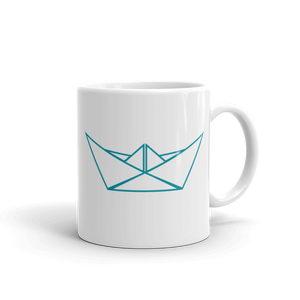 Let's Sea Mug 325 ml, Collection Origami Boat-Tamed Winds-tshirt-shop-and-sailing-blog-www-tamedwinds-com