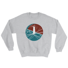 Lighthouse Unisex Crewneck Sweatshirt, Collection Fjaka-Sport Grey-S-Tamed Winds-tshirt-shop-and-sailing-blog-www-tamedwinds-com