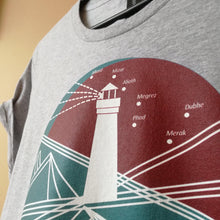 Lighthouse Women's Round Neck T-Shirt, Collection Fjaka-Tamed Winds-tshirt-shop-and-sailing-blog-www-tamedwinds-com
