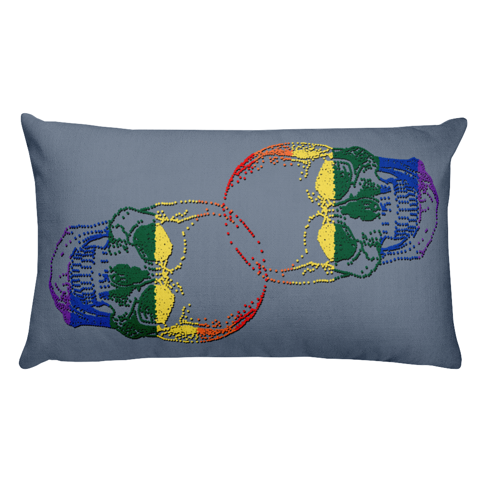 Love Skull Decorative Pillow, Collection Jolly Roger-Tamed Winds-tshirt-shop-and-sailing-blog-www-tamedwinds-com