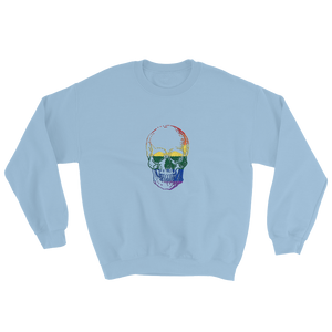 Love Skull Unisex Crewneck Sweatshirt, Collection Jolly Roger-Light Blue-S-Tamed Winds-tshirt-shop-and-sailing-blog-www-tamedwinds-com