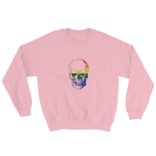 Love Skull Unisex Crewneck Sweatshirt, Collection Jolly Roger-Light Pink-S-Tamed Winds-tshirt-shop-and-sailing-blog-www-tamedwinds-com