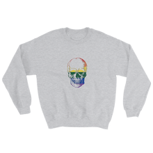 Love Skull Unisex Crewneck Sweatshirt, Collection Jolly Roger-Sport Grey-S-Tamed Winds-tshirt-shop-and-sailing-blog-www-tamedwinds-com