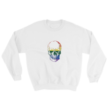 Love Skull Unisex Crewneck Sweatshirt, Collection Jolly Roger-White-S-Tamed Winds-tshirt-shop-and-sailing-blog-www-tamedwinds-com