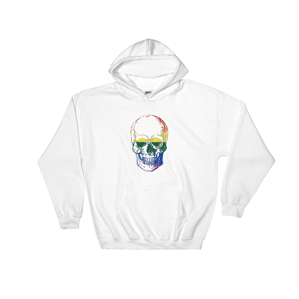Love Skull Unisex Hooded Sweatshirt, Collection Jolly Roger-White-S-Tamed Winds-tshirt-shop-and-sailing-blog-www-tamedwinds-com