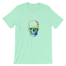 Love Skull Unisex T-Shirt, Collection Jolly Roger-Heather Mint-S-Tamed Winds-tshirt-shop-and-sailing-blog-www-tamedwinds-com