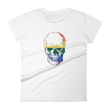 Love Skull Women's Round Neck T-Shirt, Collection Jolly Roger-White-S-Tamed Winds-tshirt-shop-and-sailing-blog-www-tamedwinds-com
