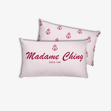 Madame Ching Light Grayish Pink Decorative Pillow, Collection Pirate Tales-Tamed Winds-tshirt-shop-and-sailing-blog-www-tamedwinds-com