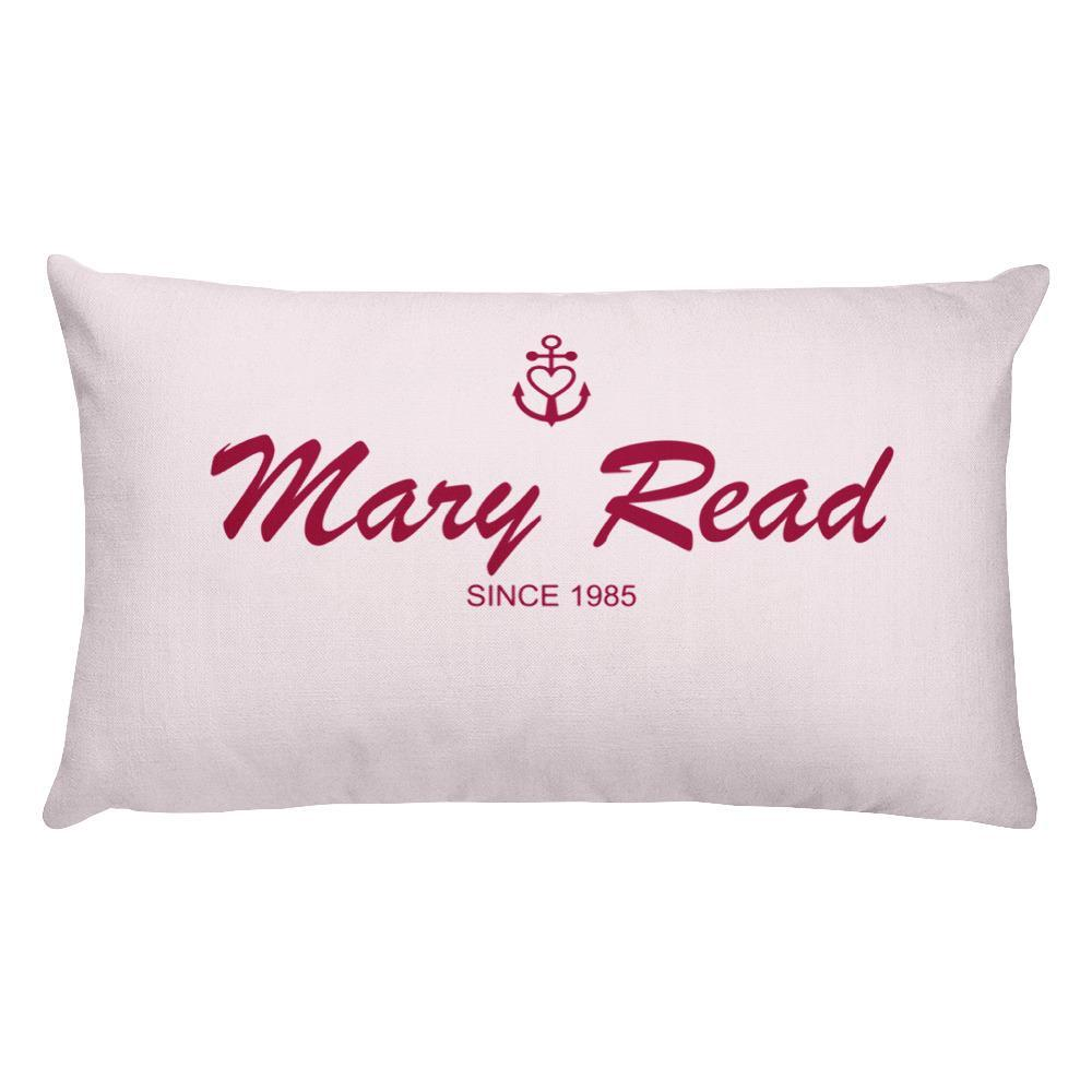 Mary Read Light Grayish Pink Decorative Pillow, Collection Pirate Tales-Tamed Winds-tshirt-shop-and-sailing-blog-www-tamedwinds-com