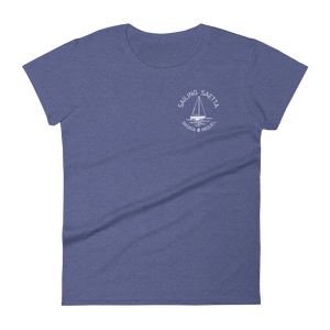 Sailing Saetta Women's Round Neck T-Shirt-Heather Grey-S-Tamed Winds-tshirt-shop-and-sailing-blog-www-tamedwinds-com