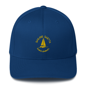 Sailing Saetta Closed-Back Structured Cap, Embroidered Logo-Tamed Winds-tshirt-shop-and-sailing-blog-www-tamedwinds-com