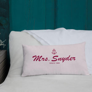 Mrs. Snyder Light Grayish Pink Decorative Pillow, Collection Pirate Tales-Tamed Winds-tshirt-shop-and-sailing-blog-www-tamedwinds-com