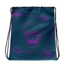 Neon Skull Drawstring Bag, Collection Jolly Roger-Tamed Winds-tshirt-shop-and-sailing-blog-www-tamedwinds-com