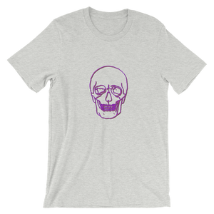 Neon Skull Unisex T-Shirt, Collection Jolly Roger-Athletic Heather-S-Tamed Winds-tshirt-shop-and-sailing-blog-www-tamedwinds-com