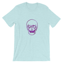 Neon Skull Unisex T-Shirt, Collection Jolly Roger-Heather Prism Ice Blue-S-Tamed Winds-tshirt-shop-and-sailing-blog-www-tamedwinds-com