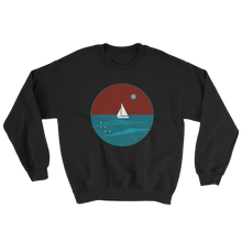 Northern Star Unisex Crewneck Sweatshirt, Collection Fjaka-Black-S-Tamed Winds-tshirt-shop-and-sailing-blog-www-tamedwinds-com