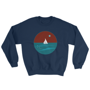 Northern Star Unisex Crewneck Sweatshirt, Collection Fjaka-Navy-S-Tamed Winds-tshirt-shop-and-sailing-blog-www-tamedwinds-com