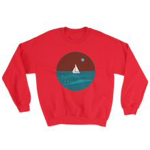 Northern Star Unisex Crewneck Sweatshirt, Collection Fjaka-Red-S-Tamed Winds-tshirt-shop-and-sailing-blog-www-tamedwinds-com
