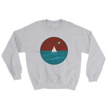 Northern Star Unisex Crewneck Sweatshirt, Collection Fjaka-Sport Grey-S-Tamed Winds-tshirt-shop-and-sailing-blog-www-tamedwinds-com