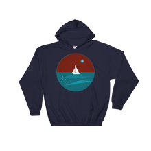 Northern Star Unisex Hooded Sweatshirt, Collection Fjaka-Navy-S-Tamed Winds-tshirt-shop-and-sailing-blog-www-tamedwinds-com