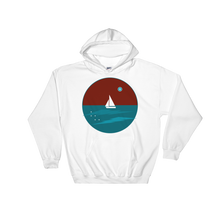 Northern Star Unisex Hooded Sweatshirt, Collection Fjaka-White-S-Tamed Winds-tshirt-shop-and-sailing-blog-www-tamedwinds-com