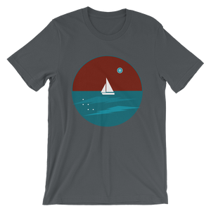 Northern Star Unisex T-Shirt, Collection Fjaka-Asphalt-S-Tamed Winds-tshirt-shop-and-sailing-blog-www-tamedwinds-com