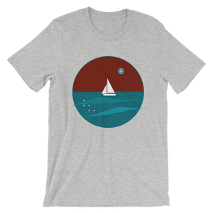 Northern Star Unisex T-Shirt, Collection Fjaka-Athletic Heather-S-Tamed Winds-tshirt-shop-and-sailing-blog-www-tamedwinds-com