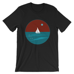 Northern Star Unisex T-Shirt, Collection Fjaka-Black-S-Tamed Winds-tshirt-shop-and-sailing-blog-www-tamedwinds-com