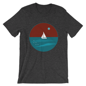 Northern Star Unisex T-Shirt, Collection Fjaka-Dark Grey Heather-S-Tamed Winds-tshirt-shop-and-sailing-blog-www-tamedwinds-com