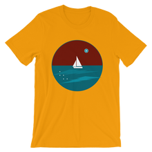 Northern Star Unisex T-Shirt, Collection Fjaka-Gold-S-Tamed Winds-tshirt-shop-and-sailing-blog-www-tamedwinds-com